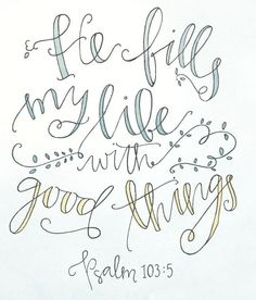 Hand Lettered Original, 5x7 Calligraphy Verse,