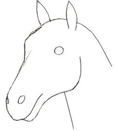 How to create a horse head drawing using pencil step-by