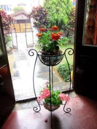 Mid Century Wrought Iron Mexican Outdoor Flower Pot ...