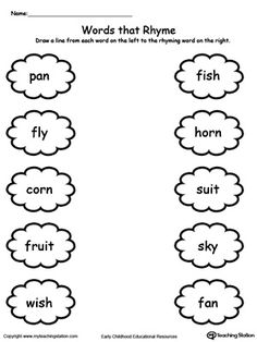 1000+ images about Rhyming Worksheets on Pinterest