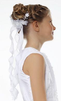 Hochsteckfrisuren Haarschmuck Blumen Kommunion Frisuren Bilder