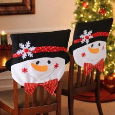 kirklands christmas chair covers how to make dining room covers, snowman and chairs on pinterest