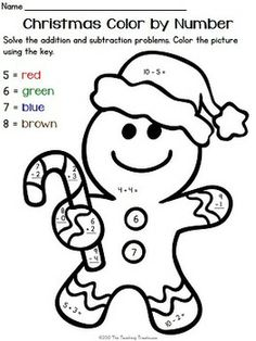 Color by numbers, Christmas colors and Numbers on Pinterest