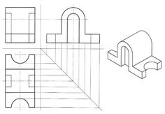 Isometric drawing, Isometric drawing exercises and