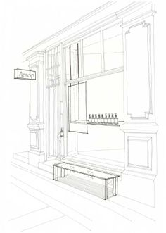 Store fronts, Line drawings and Drawings on Pinterest