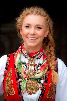 Norwegian Girl In Folk Costume Bunad Pinterest Costumes <br