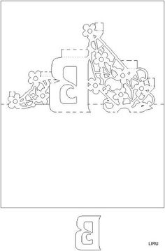 Letter B pattern. Use the printable outline for crafts