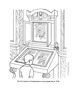 American Symbols Coloring Page Week 16--Immigration to