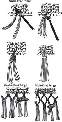 How to make fringe ~ single, double, & triple knot