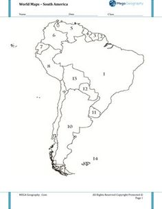 South America Geography Crossword Puzzle: This crossword
