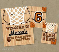 Printable Basketball Birthday Banner Diy By