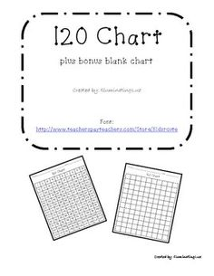 120 chart, Number chart and Number worksheets on Pinterest