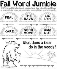 1000+ images about Autumn/Fall Worksheets on Pinterest
