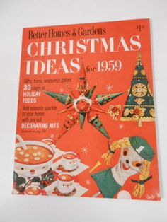 Vintage Better Homes And Gardens CHRISTMAS IDEAS For 1958 Magazine