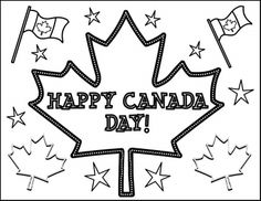 Free Kids Printable Activities: French Canada Day Word