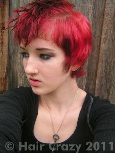 Splat Hair Dye On Pinterest Black Hair Bob Bright Red Hair Dye