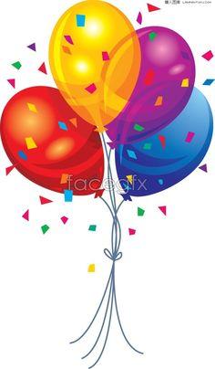 birthday balloons streamers