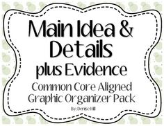 1000+ images about Main Idea and Details on Pinterest