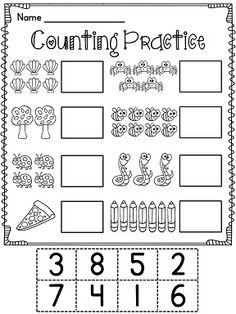 Cut & Paste Numbers: Differentiated Worksheets 0-10 {PreK