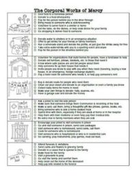 The Corporal Works of Mercy Coloring Page- Free printable ...