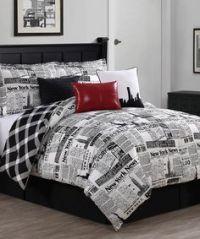 World post double duvet cover quilt bedding set - postcard ...