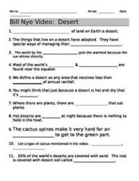 Bill Nye Plants Video Worksheet Free Worksheets Library