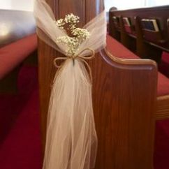 Cheap Burlap Chair Sashes Western Saddle 20 Tulle Wedding Pew Decor | Wedding, Bows And Flowers