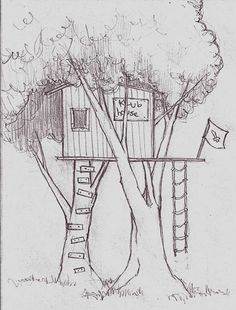 I like this tree house clip art, with the flowers at the