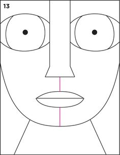 Human head pattern. Use the printable outline for crafts