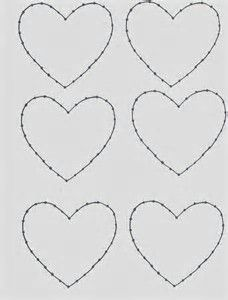 Primitive heart pattern. Use the printable outline for