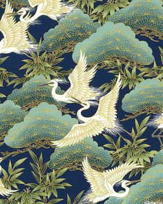 1000 Images About Crane Fabric On Pinterest Japanese