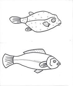 Preschool Fish Pattern.. make a puppet, get kids to color