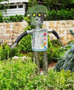 Unique Scarecrow Ideas Planetpals Recycle Organic Gardening