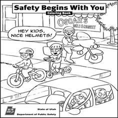 Preschool Pedestrian Safety Coloring Pages Coloring Pages
