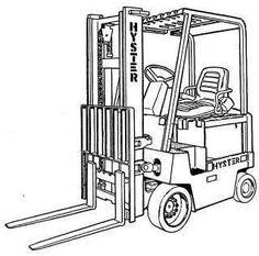 Hyster Forklift Truck Type A177: H2.00XL (H40XL), H2.50XL