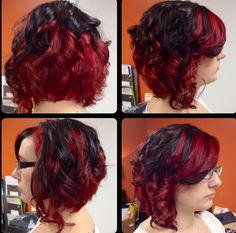 Multi Dimensional Red Hair Color High Lift Blonde And Highlights