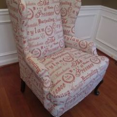 How To Make Slipcover For Wingback Chair Contemporary Bar Chairs Botanical Print Upholstery Fabric | ... Abington Wing - Jewel Upholstered Club