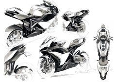 Electric motorcycle PART II by Yung Presciutti, via