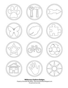 Russell's merit badges from the Pixar movie