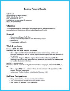 Sample Of Bank Teller Resume With No Experience