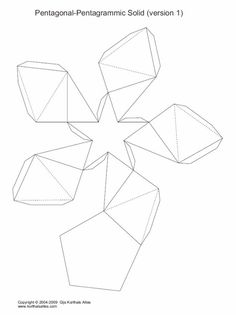 ESPAÇO EDUCAR: Molde de pirâmide octogonal para imprimir