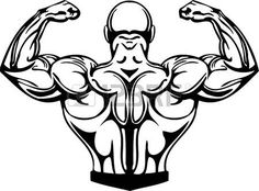 Bodybuilder Logo Template. Vector object and Icons for