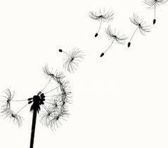 Dandelion with Bird Silhouettes Tattoo 3 by ~Metacharis on