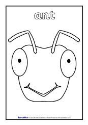 Ant mask templates including a coloring page version of