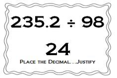 long division decimals 3rd grade math free printable