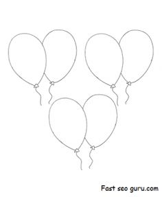 Balloon template, The studio and Tissue paper on Pinterest
