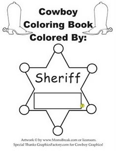 Sheriff star pattern. Use the printable outline for crafts