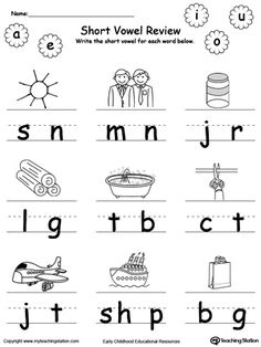 Short vowels, Letter worksheets and Worksheets on Pinterest