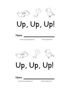 Learn the Short U sound with this printable mini-book