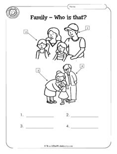 family worksheet: NEW 127 MY FAMILY ACTIVITIES WORKSHEETS